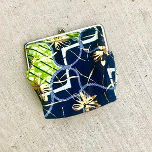 Ankara clasp snap frame purse from Tribal Marks by 'Dami