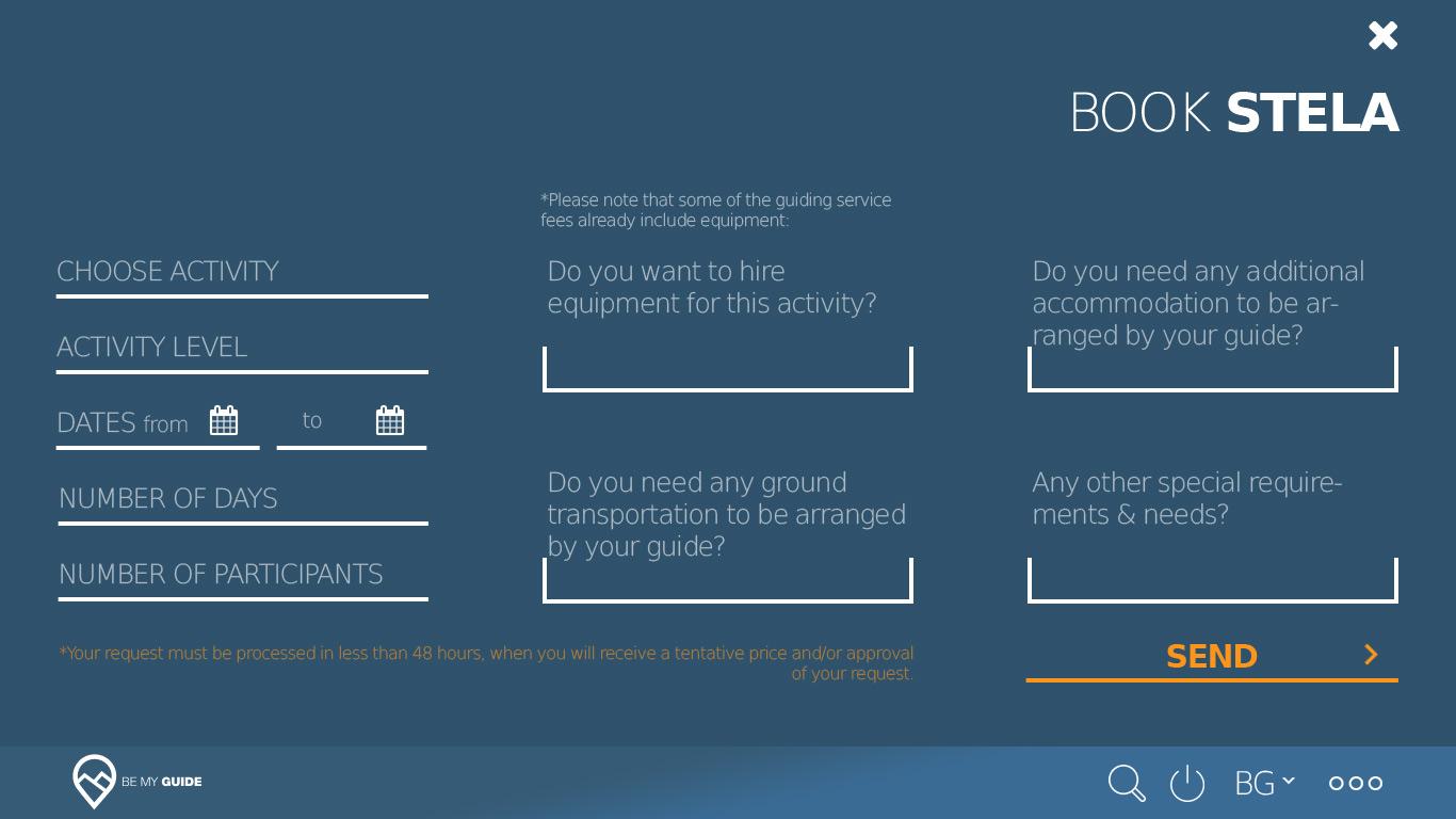 BeMyGuide Website design