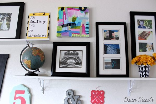 DIY Shelved Gallery Wall + a Free Printable | bydawnnicole.com