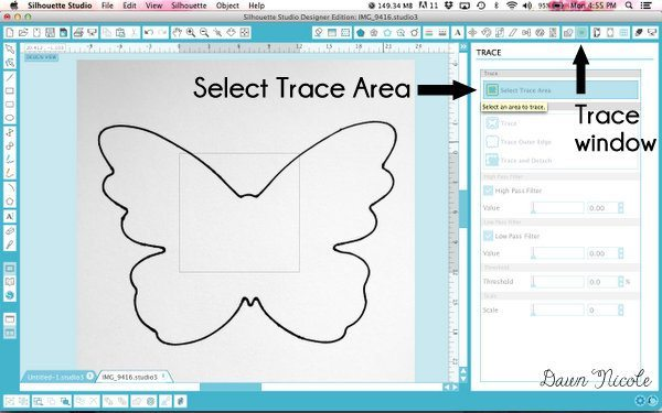 How to Create Silhouette Cut Files from Stencils | bydawnnicole.com