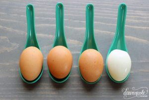 The Simple Secret to Easy-Peel Hard Boiled Eggs. Find out the trick at bydawnnicole.com!