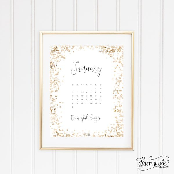 January 2016 Calendar + Tech Pretties | dawnnicoledesigns.com