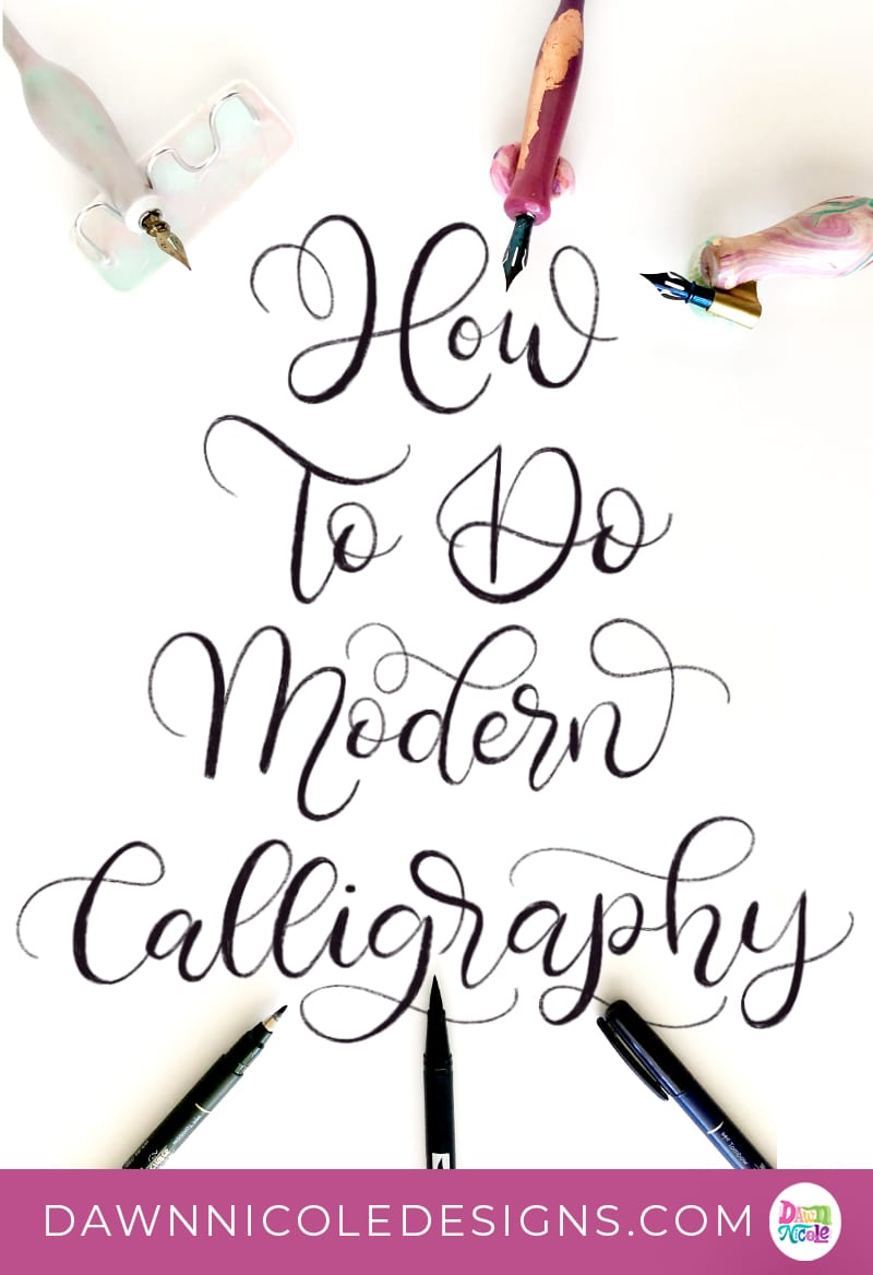 Modern Calligraphy. What is modern calligraphy and how do you learn it? Find out in this detailed blog post on the stunning art form.