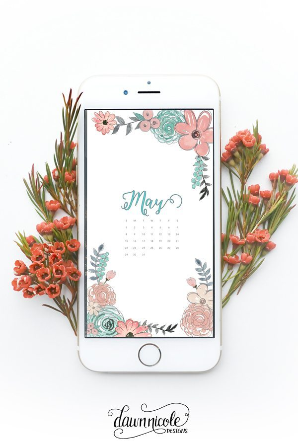 May 2016 Calendar + Tech Pretties | dawnnicoledesigns.com