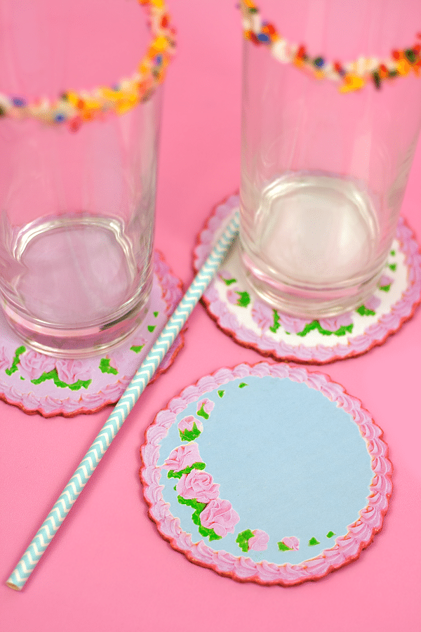 Cake Printable Coasters DIY 1
