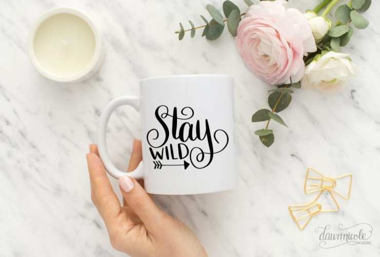 Hand Lettered Stay Wild Free Cut File (SVG, Studio3, PNG) | dawnnicoledesigns.com