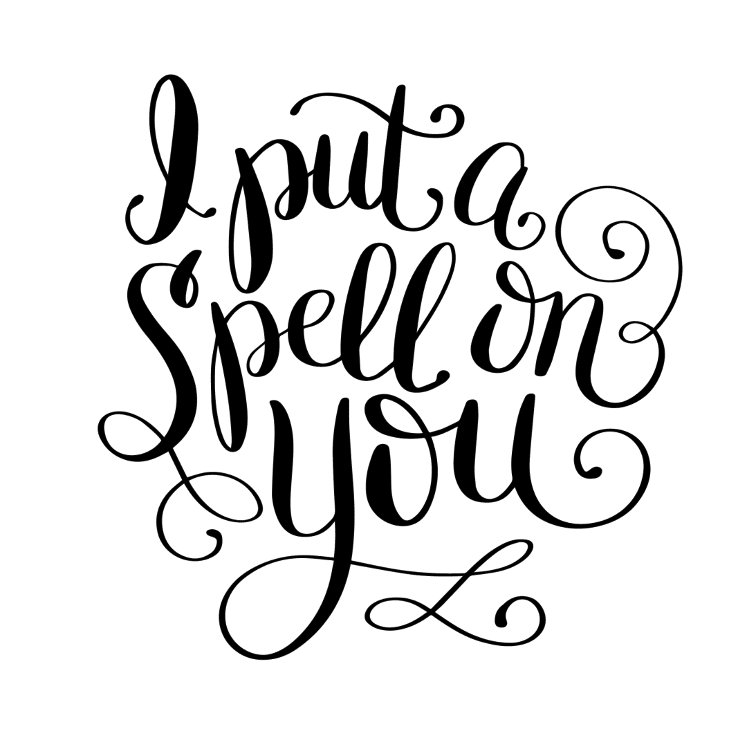 Hand Lettered Spell On You Free Print Cut File