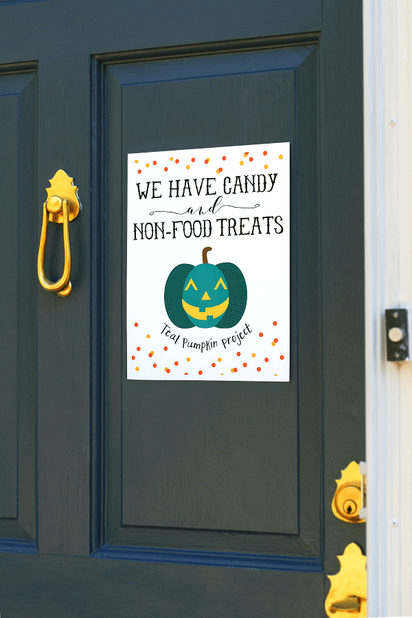 photo relating to Teal Pumpkin Printable referred to as Allergy-Harmless Teal Pumpkin Task Halloween Cost-free Printables
