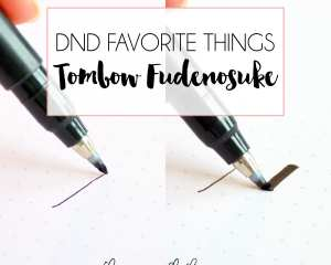 DND Favorite Things: Tombow Fudenosuke