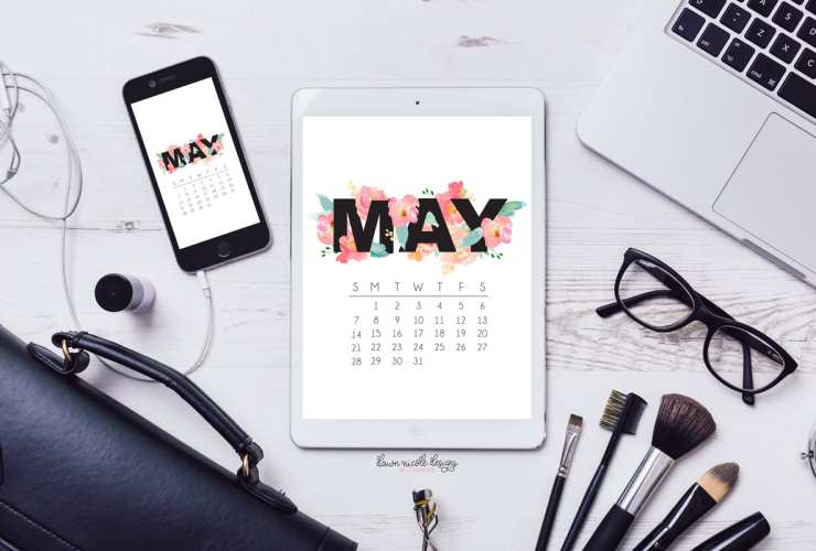 May 2017 Calendar + Tech Pretties. One of my most popular posts each month are these free pretty printables and calendars for your tech!