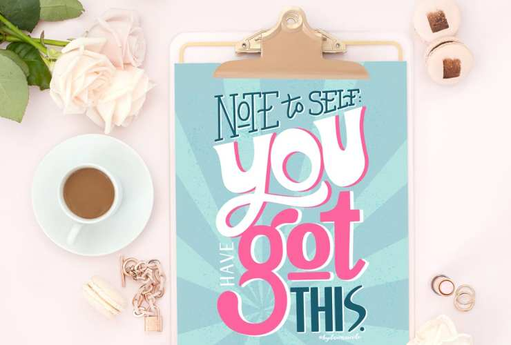 1920's Inspired Motivational Free Print + Coloring Page. This hand-drawntypographic print is offered in three design options!