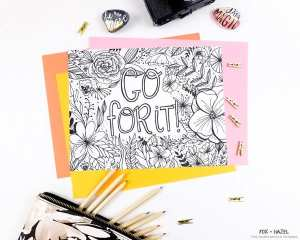 free encouragement coloring page printable - Coloring Pages With Designs