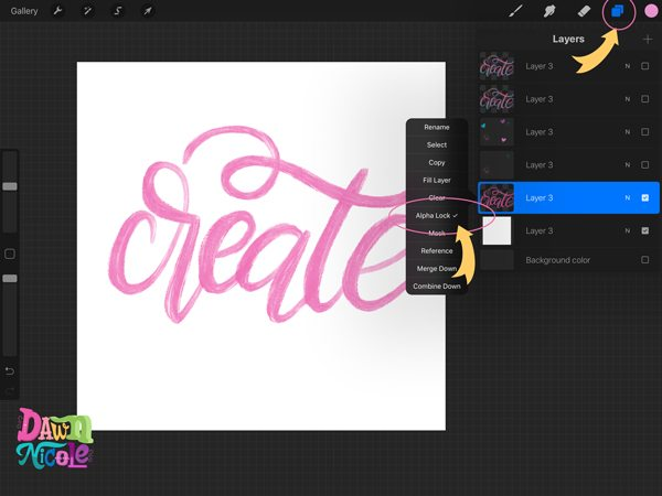 Procreate Tutorial: Artsy Painted Calligraphy