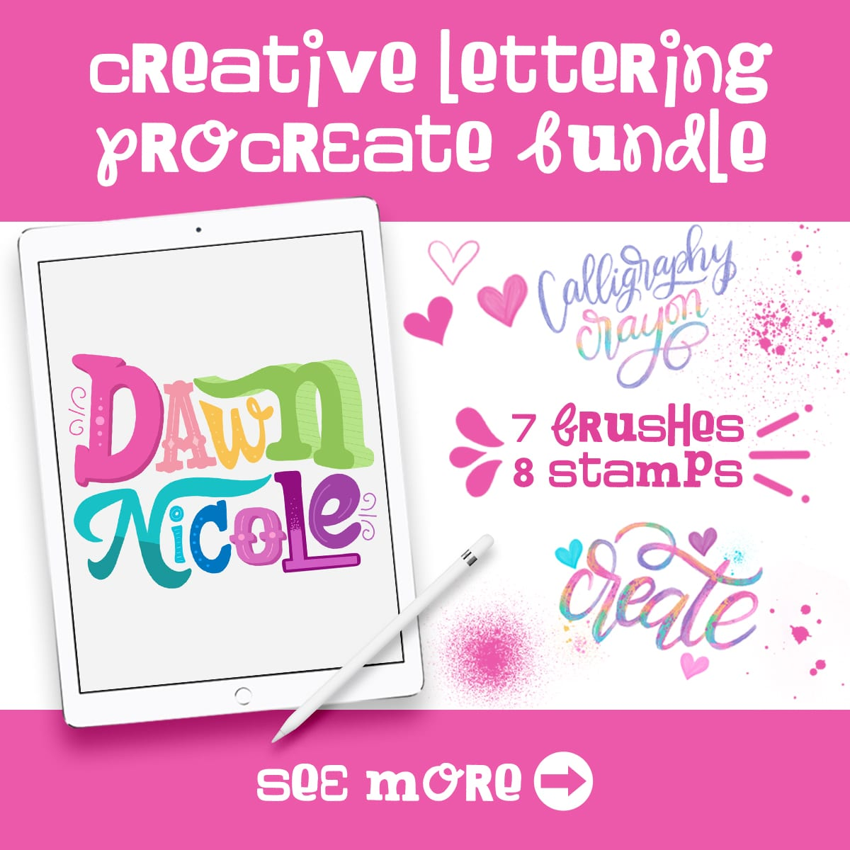 NEW! Creative Lettering Procreate Bundle