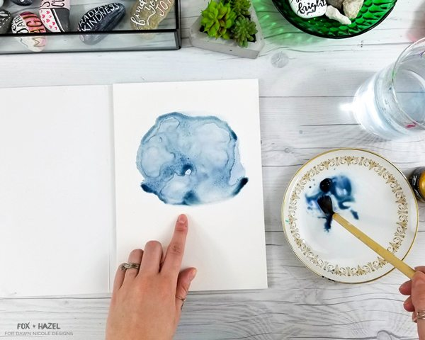 How To Paint Zodiac Constellation Art- Fox + Hazel for Dawn Nicole Designs 6