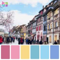 Colmar, France in Color Palettes. I'm sharing my day trip to the Colmar Easter Market with you in the form of color palettes created from the photos I took of this beautiful French town.