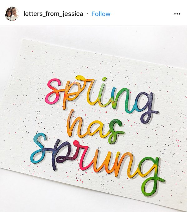 Lettering Inspiration: April Instagram Features. I handpicked ten inspiring examples of lettering from our Instagram community to highlight this month!