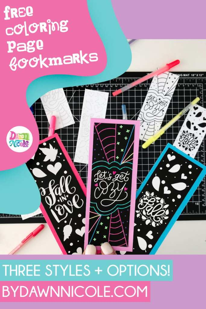 Printable Fall Coloring Page Bookmarks.Make your own DIY Bookmarks with these free hand-lettered printable bookmark designs.
