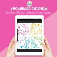 Rainbow Radial Lettering