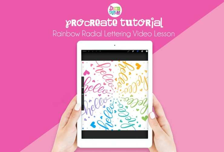 Procreate Tutorial: Rainbow Radial Lettering. Learn how easy it is to create colorful rainbow lettering on your iPad in this 10-minute video lesson.