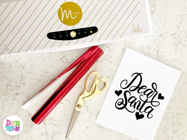 Dear Santa DIY Foil Print + Free Printable. Download this free hand-lettered printable and follow my step-by-step tutorial to foil it at home!
