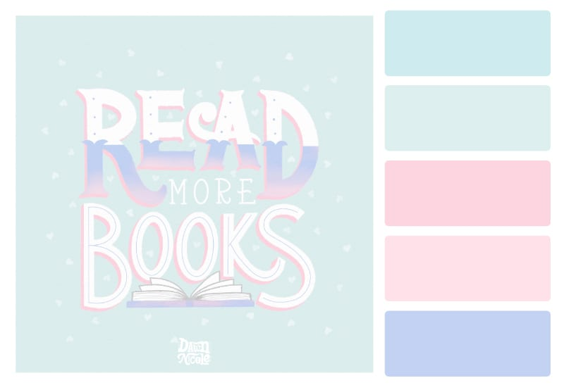 Quiet Pastels Color Palette + Lettering Inspiration. Grab this free color palette, check out the lettering pieces I created with it, and then use it to make some of your own!