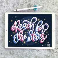 Reach for the Stars Procreate Video Lesson