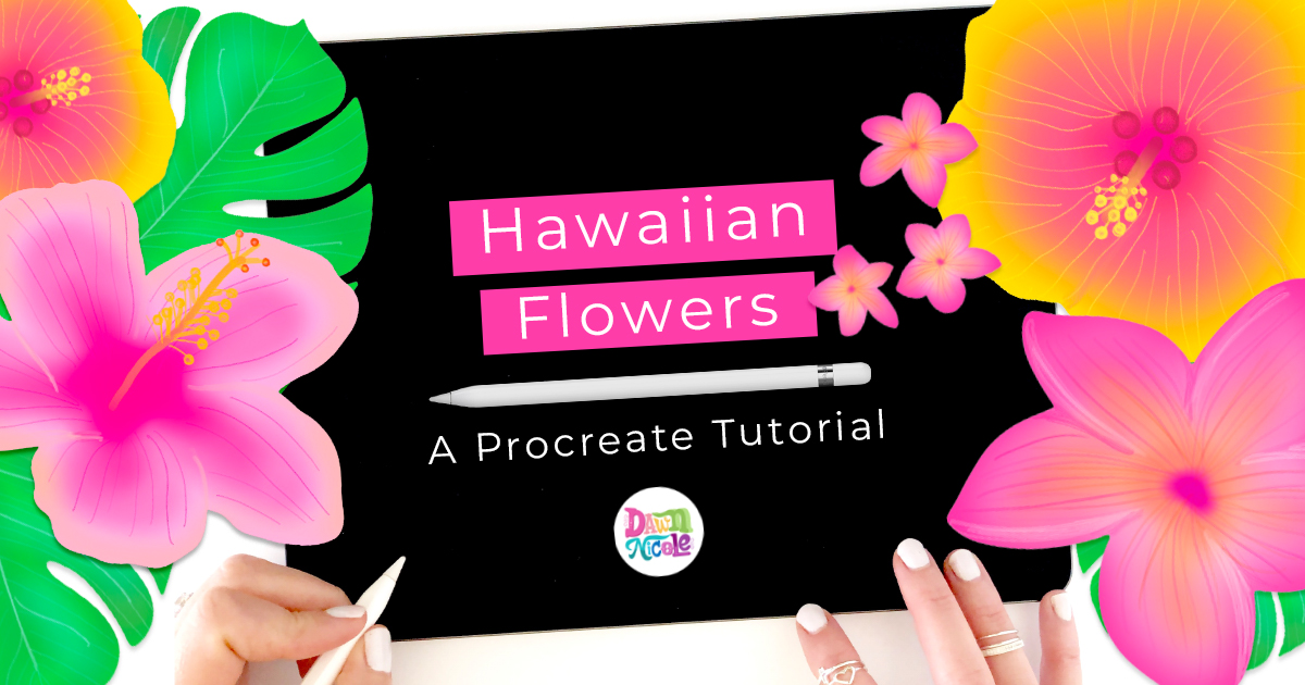 Hawaiian Flowers: Procreate Stamp Tutorial. Using stamps from my Tropical Vibes Lettering Kit, I'll show you how to make Plumeria and Hibiscus flowers.