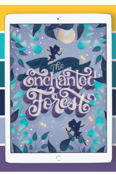 """Enchanted Forest Color Palette. Grab the color palette I used for my hand-lettered """"Enchanted Forest"""" artwork + tips for how to use it!"""