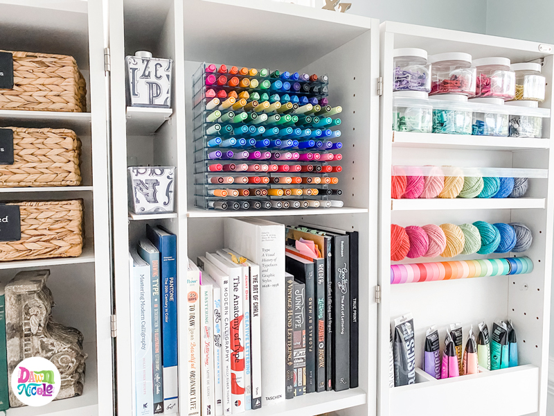 Easy Pen + Marker Storage Ideas. These marker storage solutions are pretty, easy, and affordable ways to stay organized!