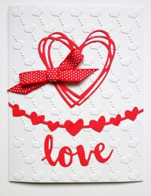Die cut shapes and embossing folder