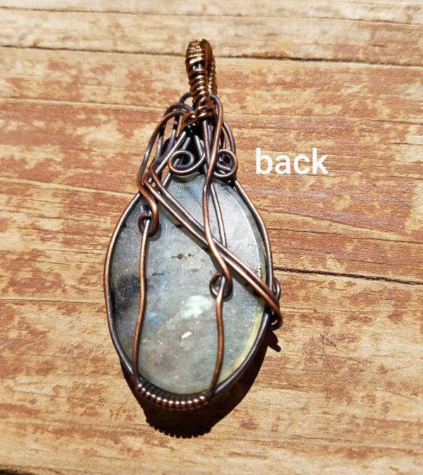 Yellow Green Flash Labradorite Pendant