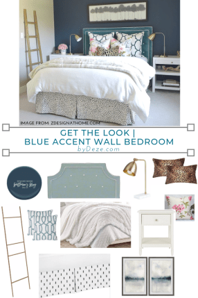 get the look of this accent wall bedroom
