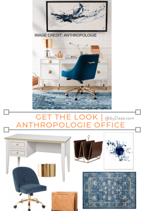 get the look of this Anthropologie home office with these budget items
