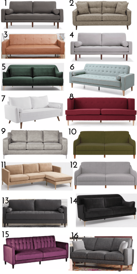 ROUND UP SOFA UNDER 500 DOLLARS