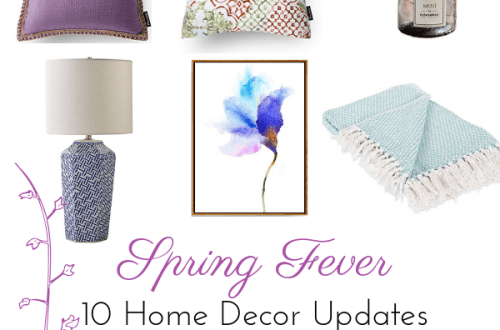 a flyer talking about spring 2019 home decor updates