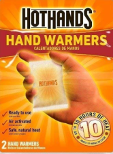 A picture of HotHands Hand Warmers because a travel hack is to pack hand warmers to get warm when its cold outside and you're sightseeing