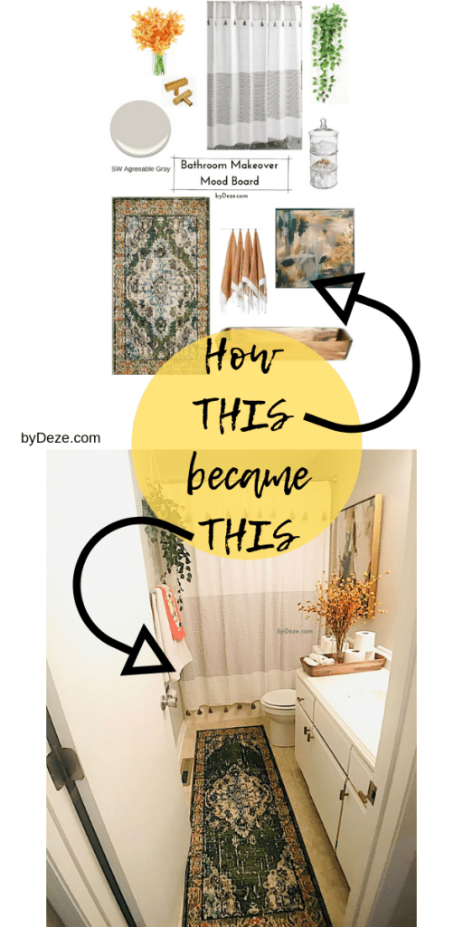 pin for the bathroom makeover