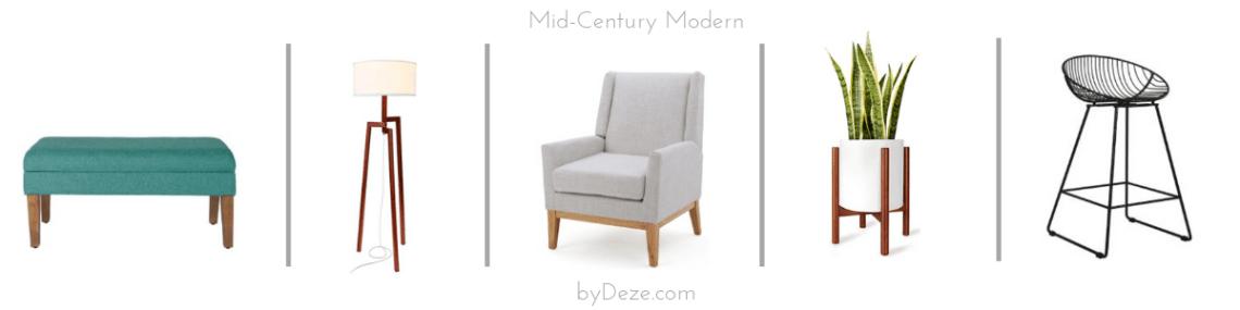 mid century home decor items