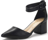 a picture of the closed toe black work heels which is one of the best things to buy on amazon