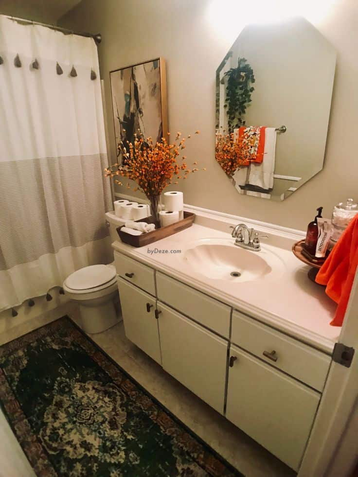 """an """"after"""" picture of the bathroom"""