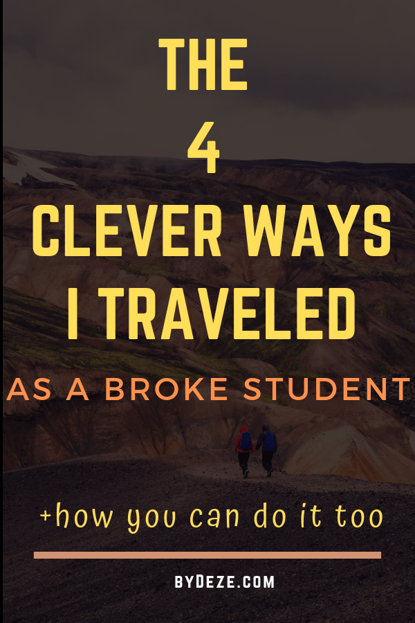 a poster about how I travel as a student