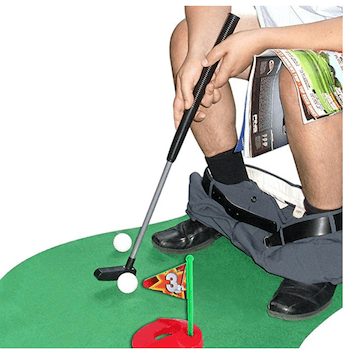 a golf set that can be used on the toilet