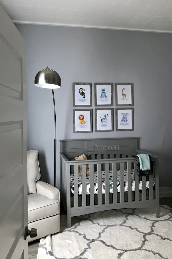 peek into the gray baby nursery