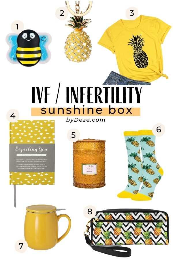 IVF infertility box of sunshine ideas
