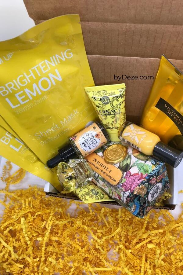self care themed sunshine box