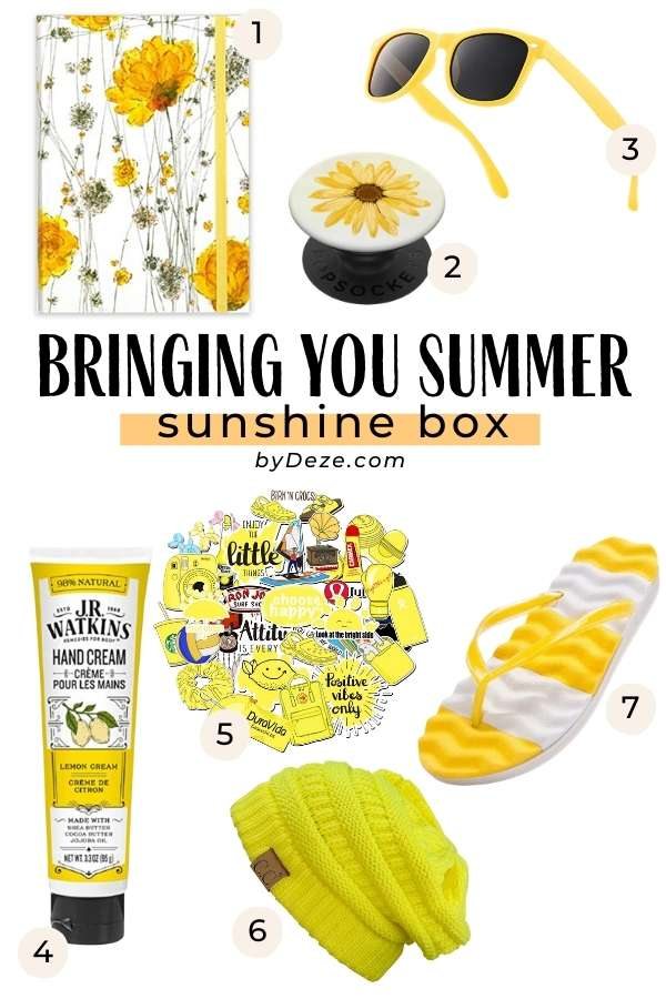 summer and happiness box ideas