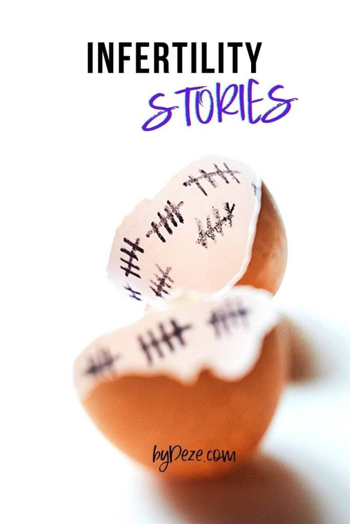 broken egg with label - infertility stories title photo