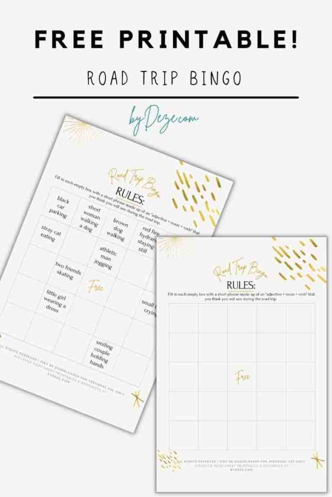 free travel bingo printable for adults