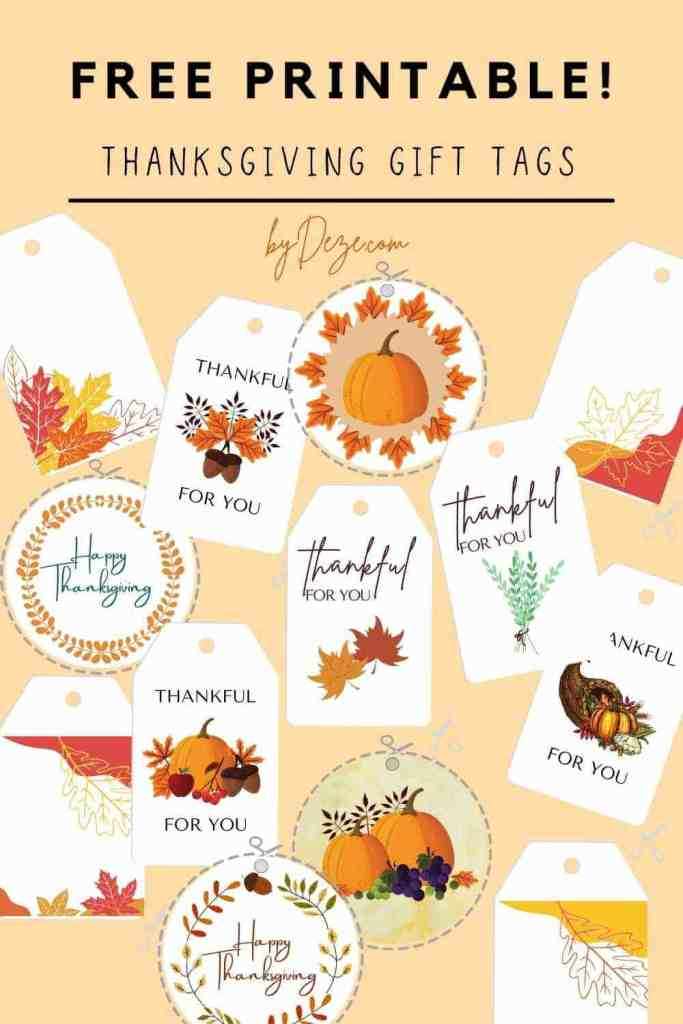 free printable thanksgiving gift tags thankful for you
